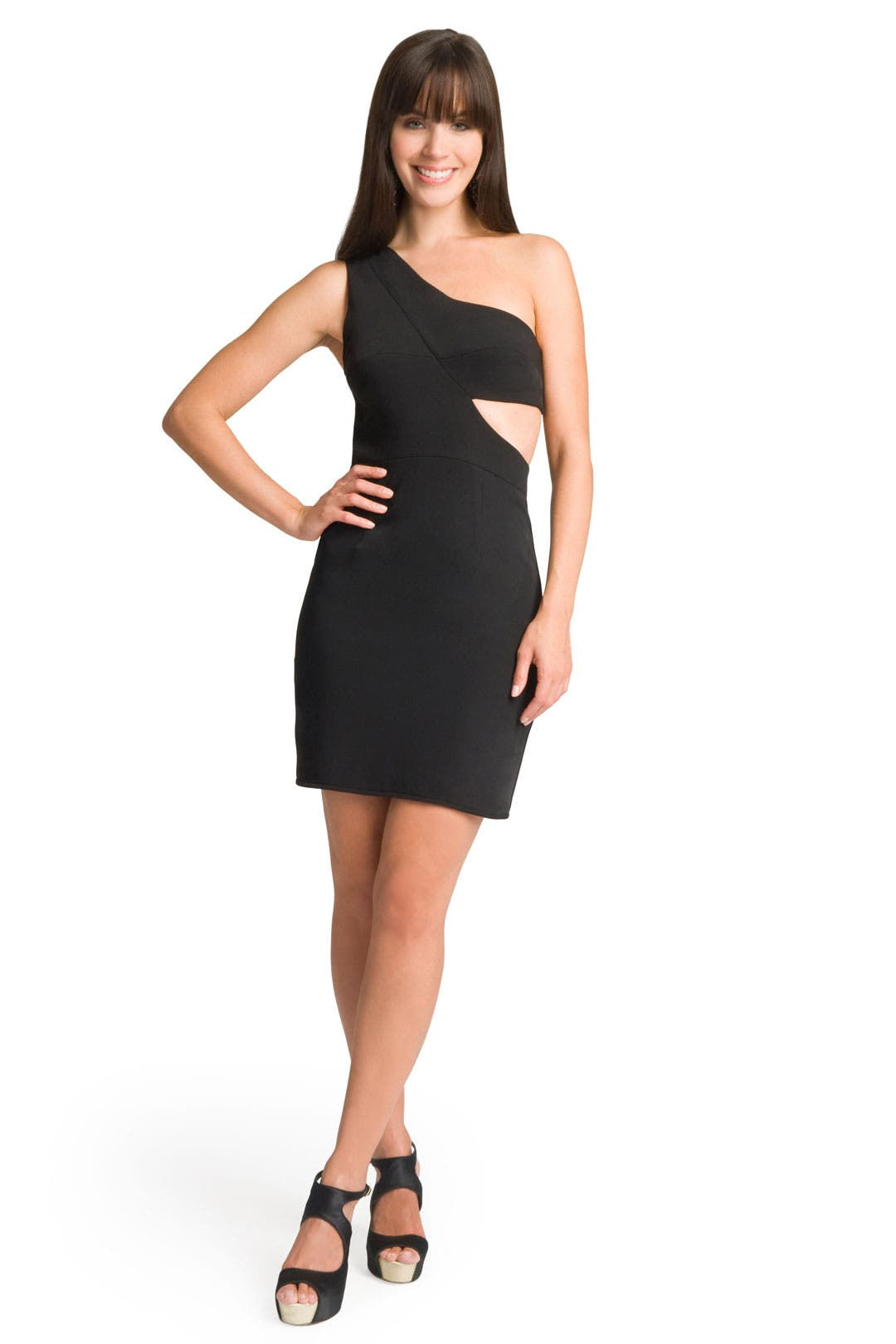Cut Out One Shoulder Dress by Black Halo
