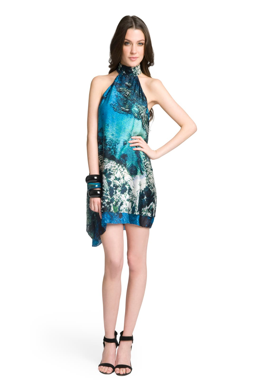 Brilliant Blue Halter Dress by Christian Siriano