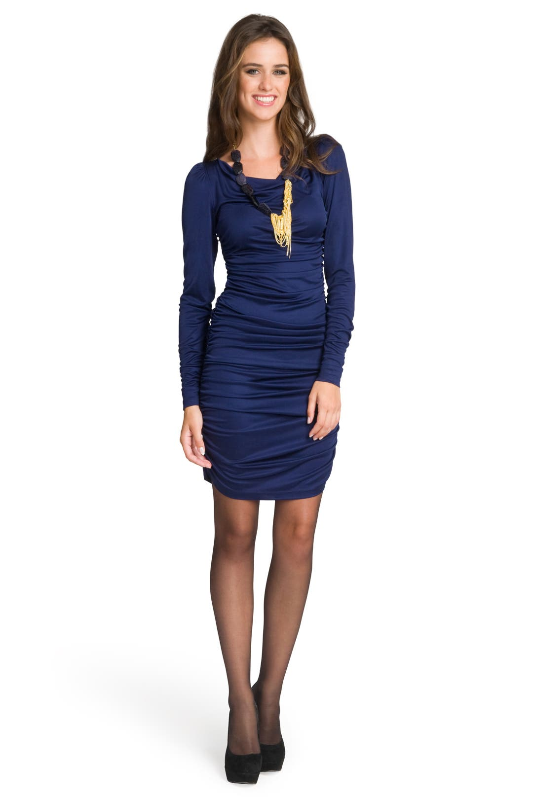Sapphire Sophisticate dress by Christian Siriano