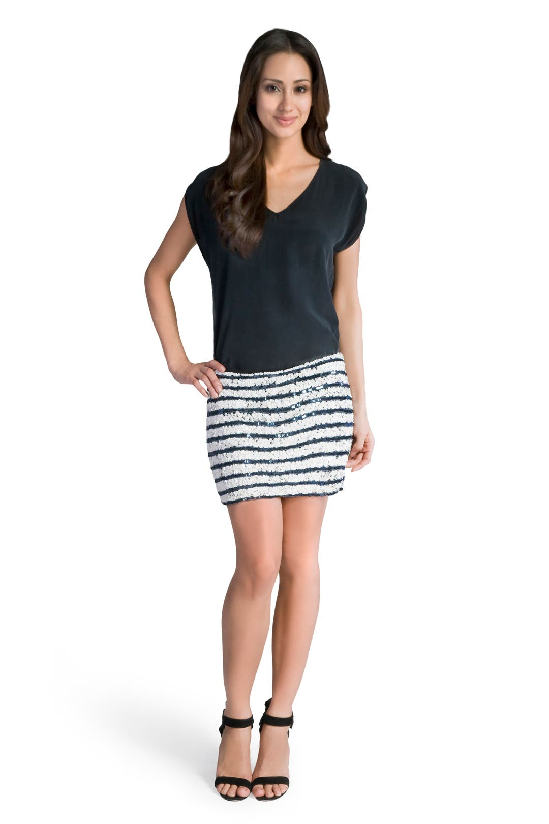 Nautical Stripe Mini Skirt by Gryphon