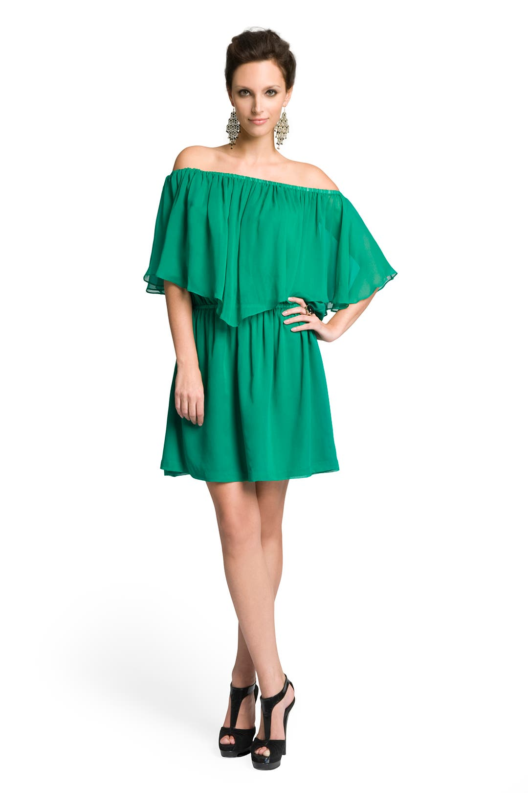 Show Some Shoulder Tiered Dress by Halston Heritage