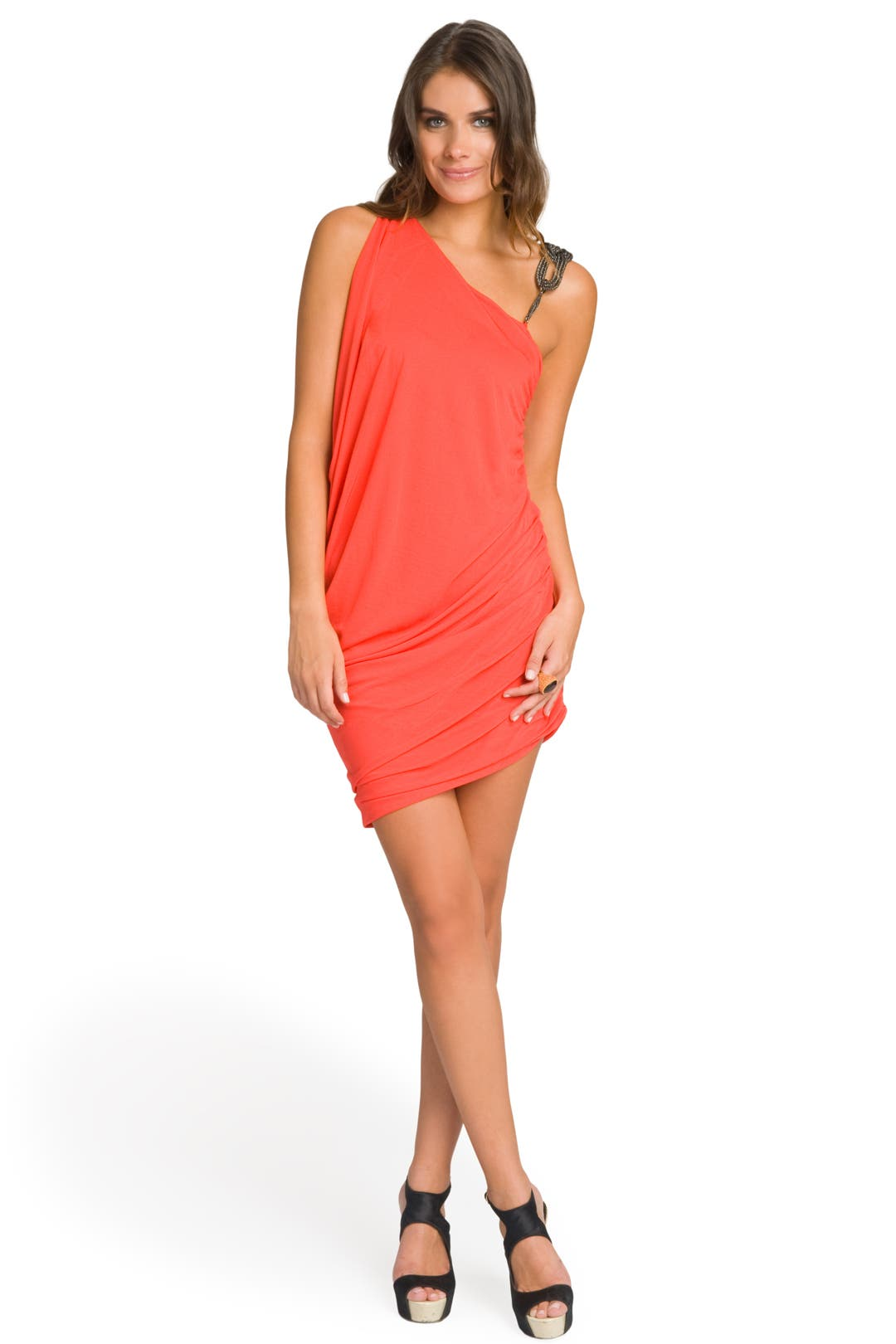 Fire Braided Shoulder Dress by Haute Hippie