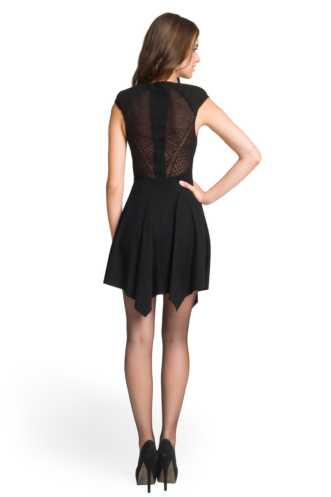 Geo Lace Dress by Helmut Lang