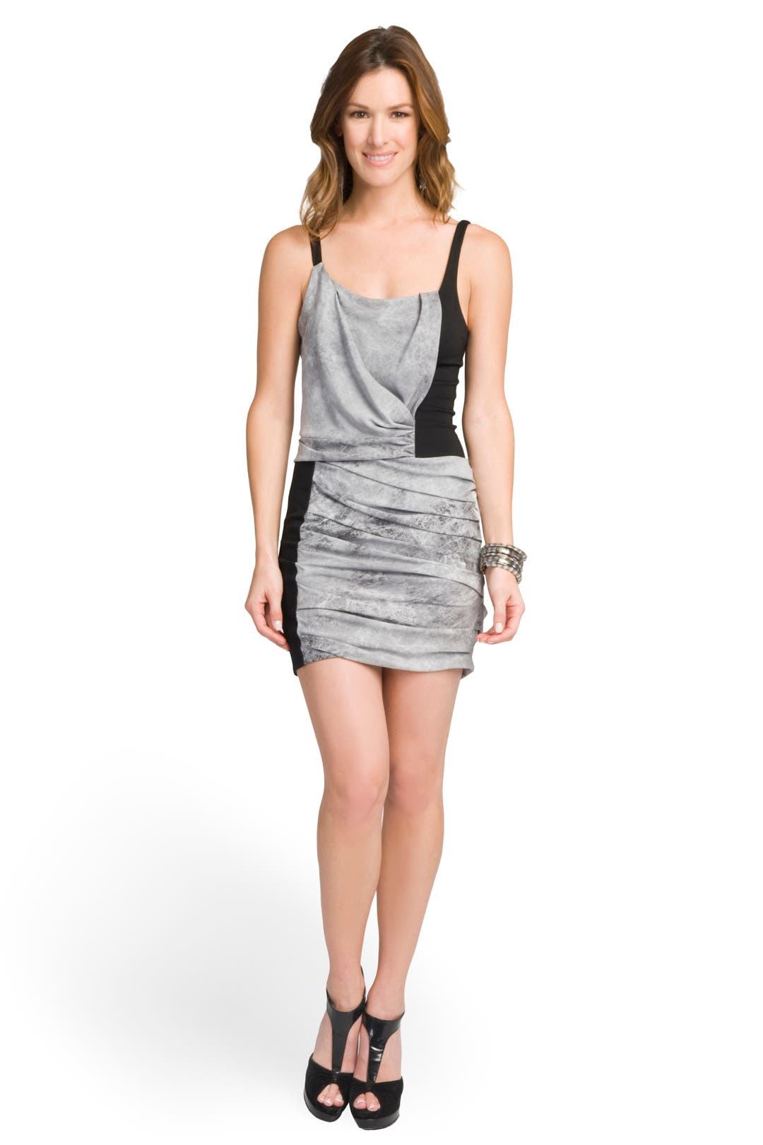 Graphite Colorblock Dress by Helmut Lang