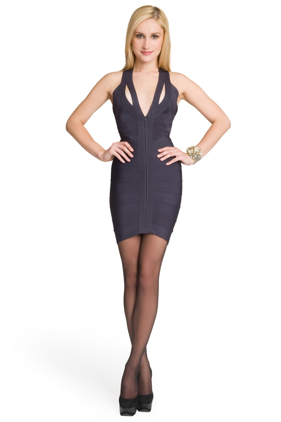 Dark Knight Bandage Dress by Hervé Léger