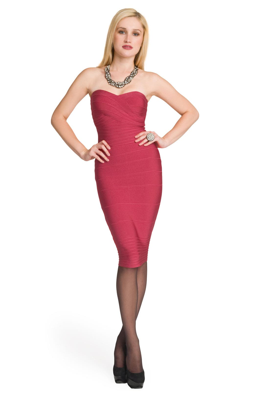 Ruby Bandage Dress by Hervé Léger