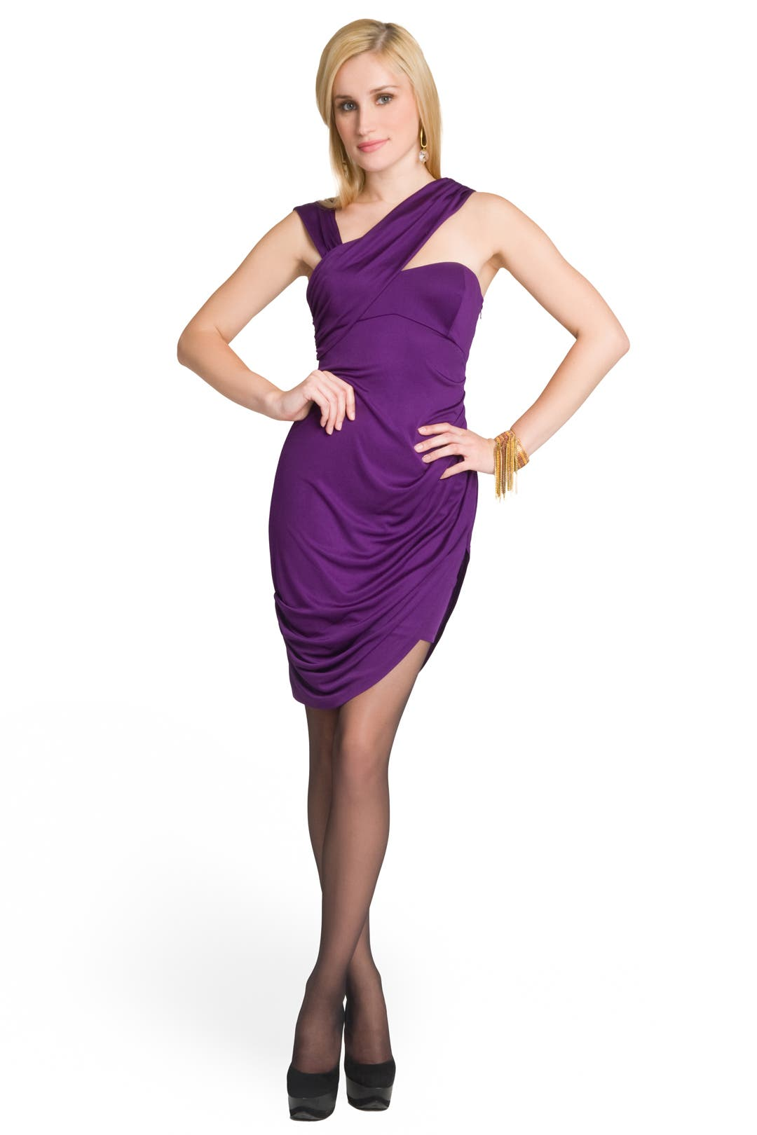 Slinky Draped Dress by Laila Azhar