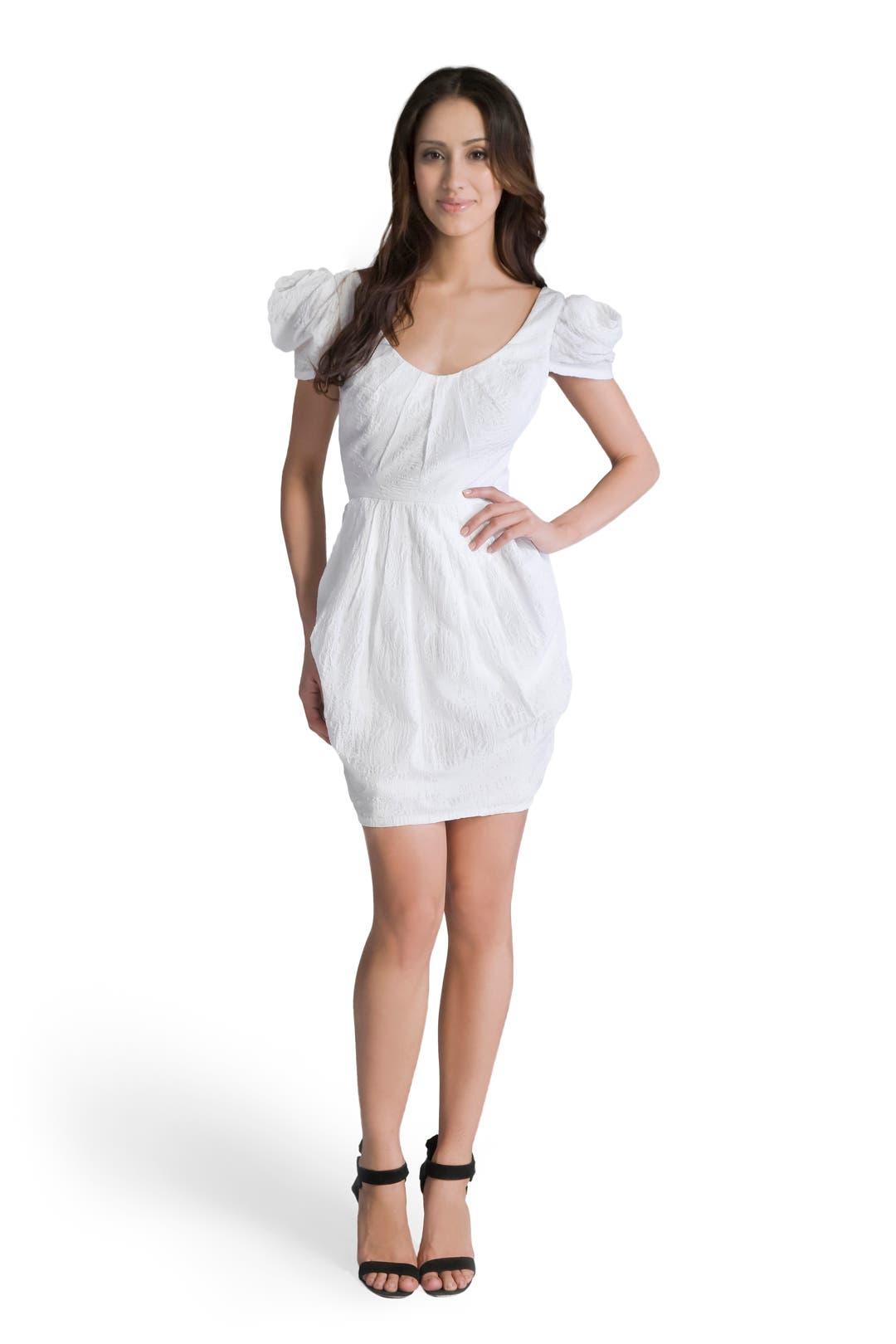 Cotton Puff Sleeve Dress by Mark & James by Badgley Mischka