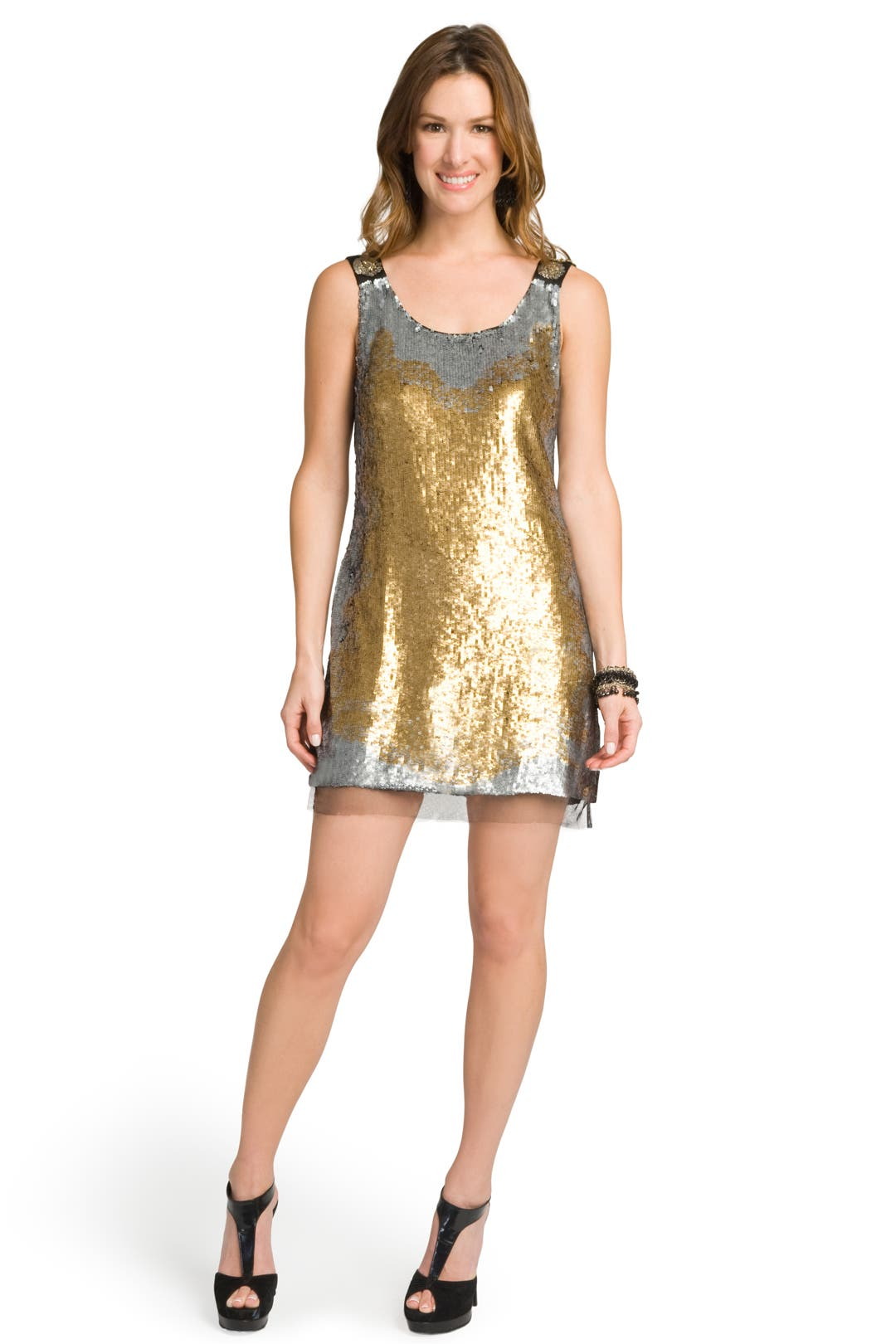 Sea of Sequins Shift by Mark & James by Badgley Mischka