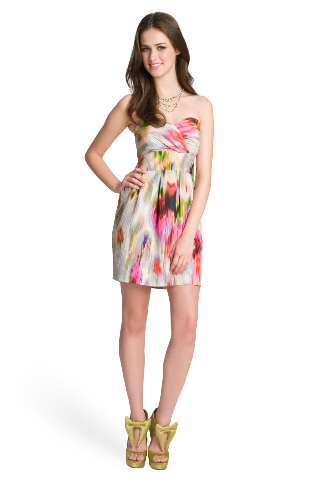 Starburst Strapless Dress by Mark & James by Badgley Mischka