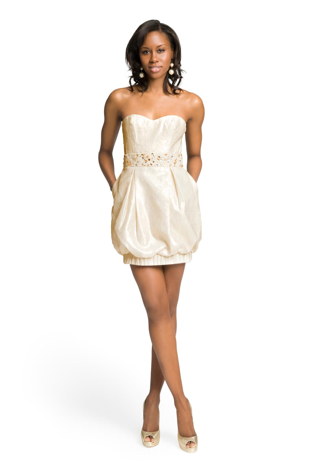 Sweetheart Bubble Dress by Mark & James by Badgley Mischka
