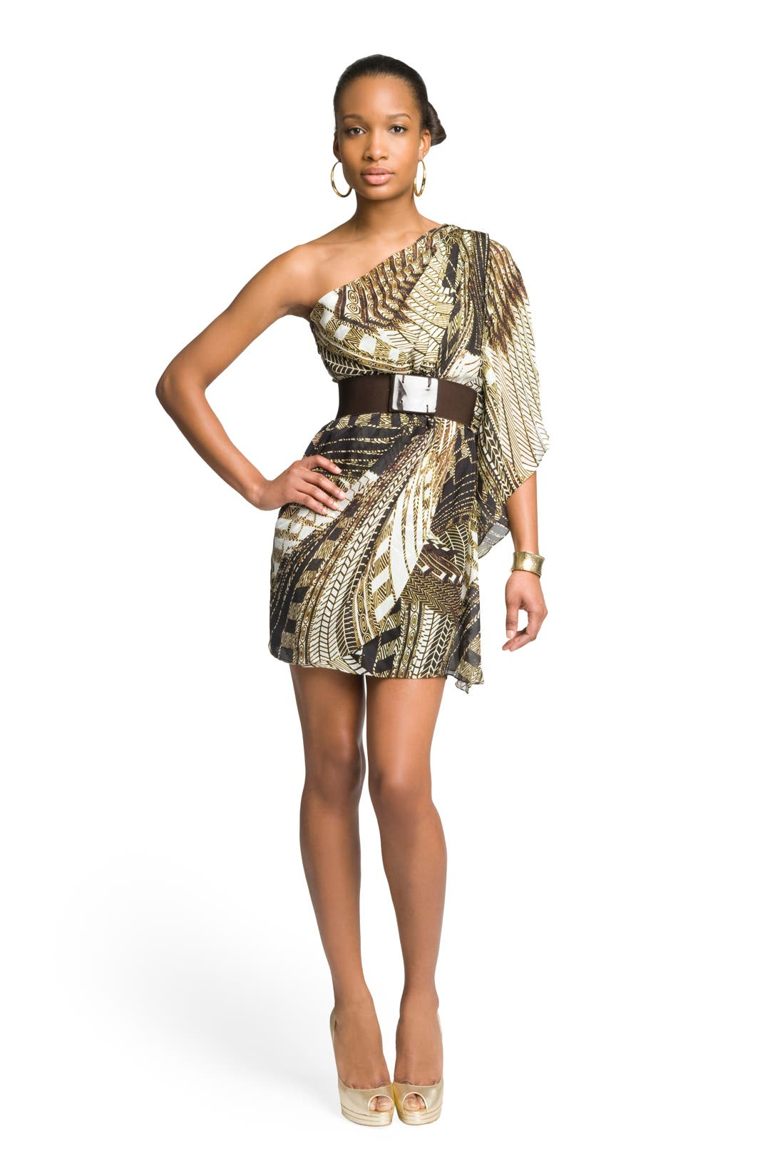 Tribal Printed Dress by Mark & James by Badgley Mischka
