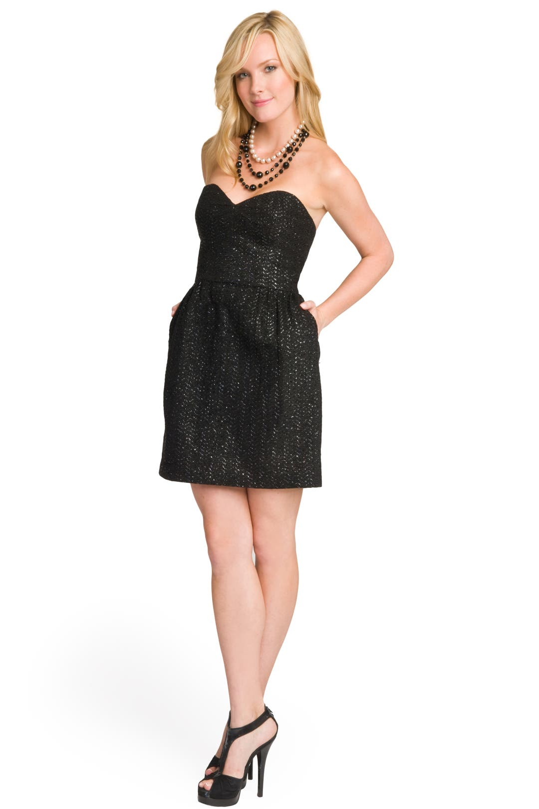 Tweed  Sparkle Sweetheart Dress by Milly
