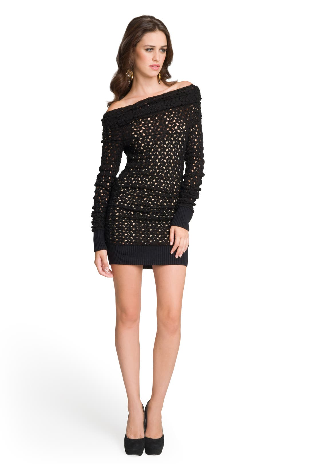 Cold Shoulder Crochet Dress by Missoni