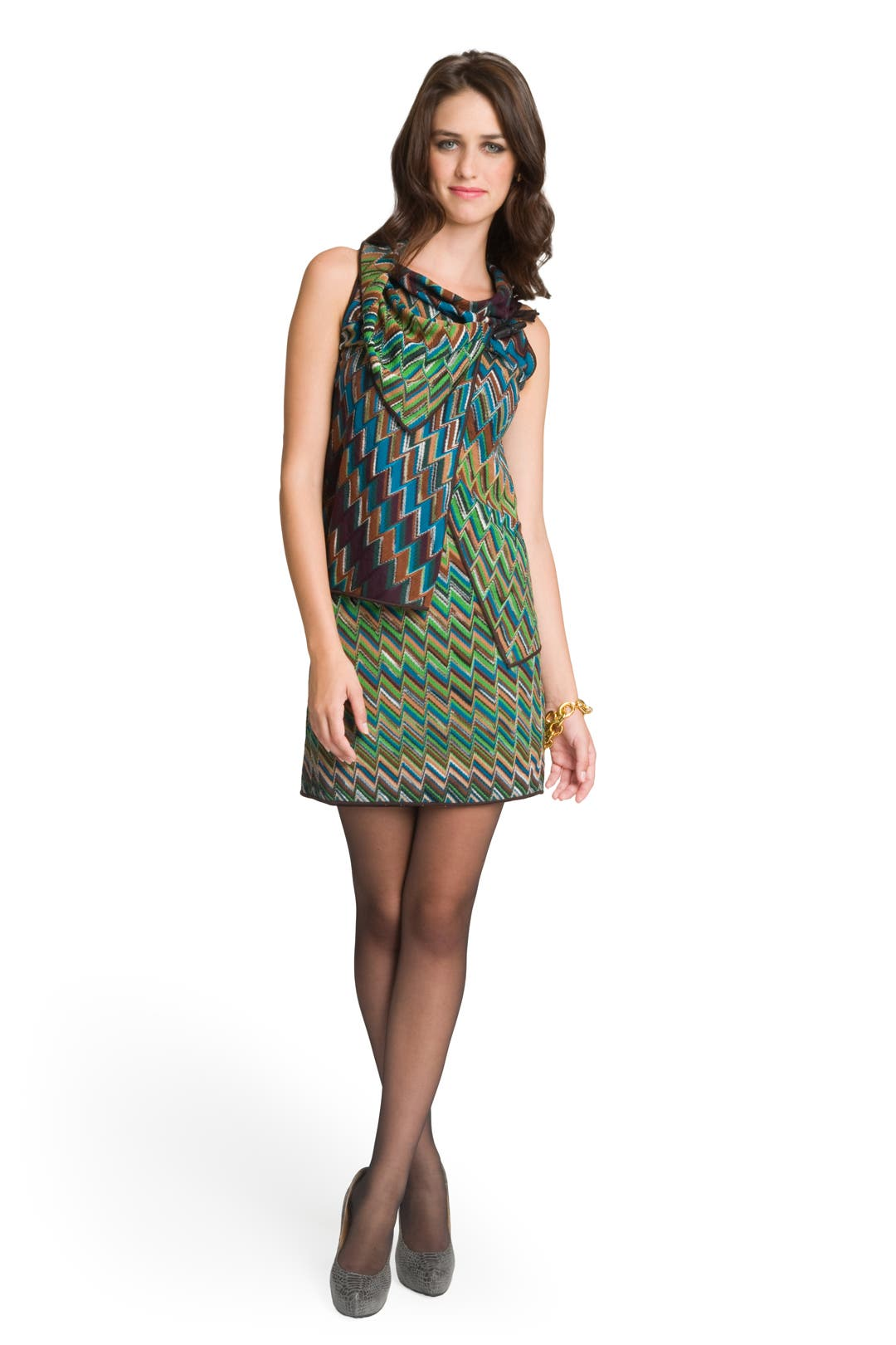 Zig Zag Tiered Dress by Missoni