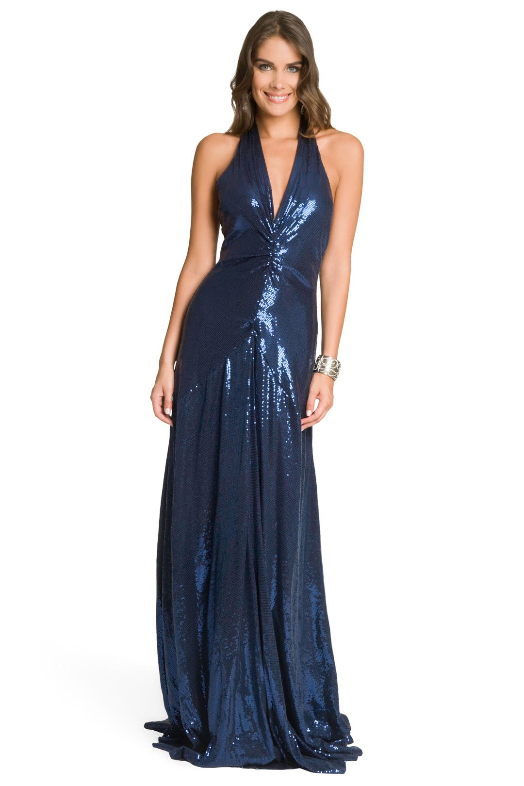 Navy Sequin Gown by Nicole Miller