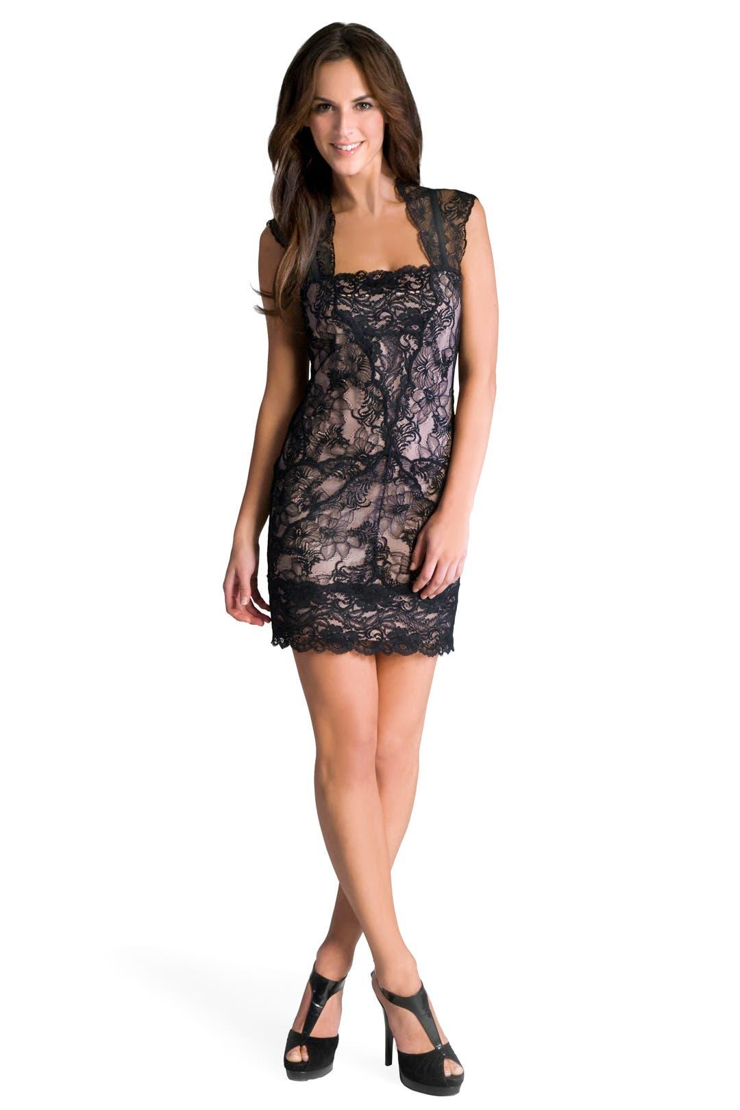 Nicole miller cutout back lace sheath dress nordstrom