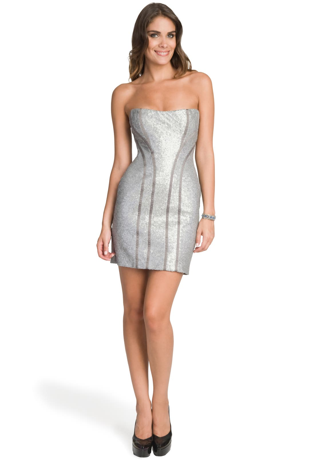 Silver Glitz Corset Dress by Peter Soronen