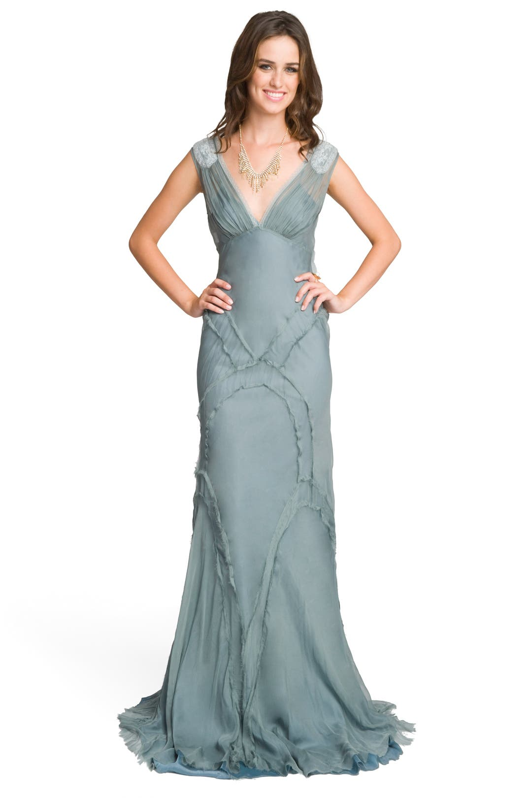 Romantic Sage Gown by Philosophy Di Alberta Ferretti