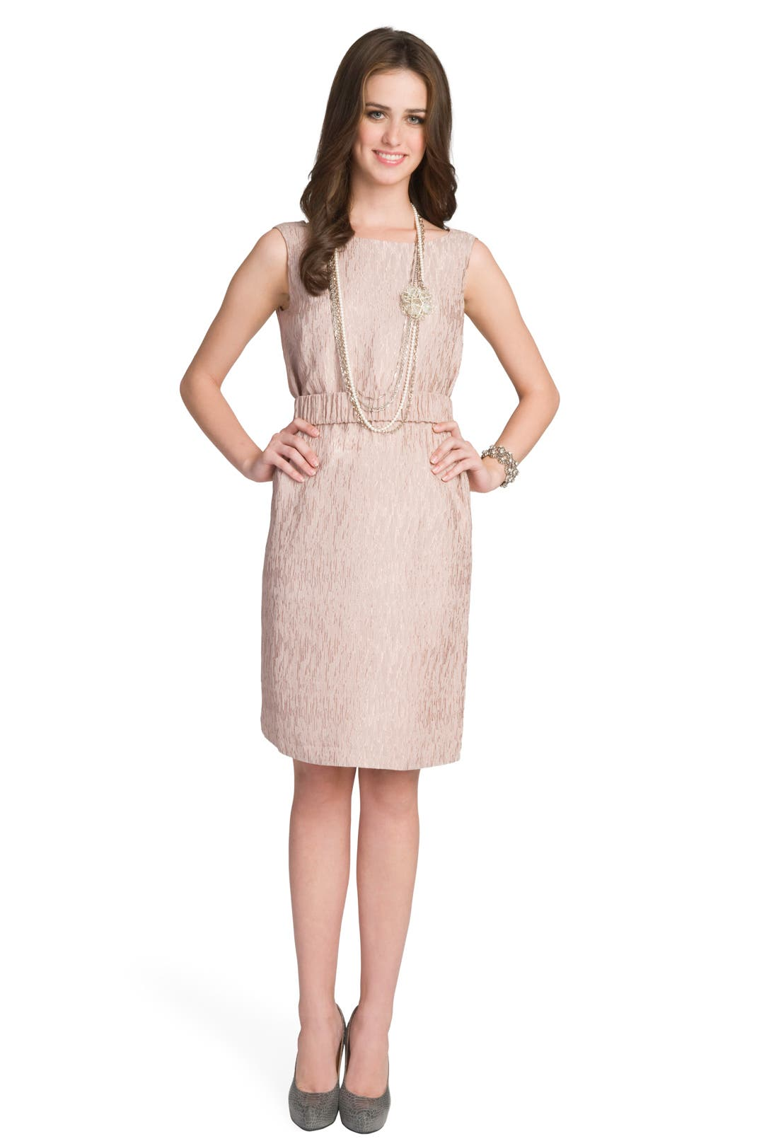 Pale Textured Tank Dress by Ports 1961