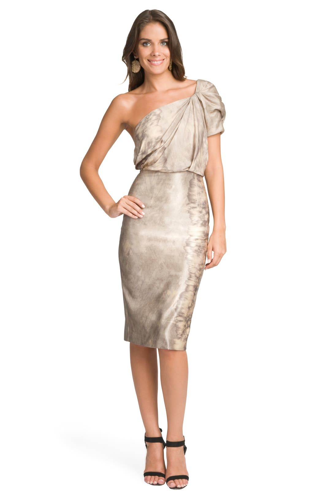 Mercury One Shoulder Dress by Rachel Roy