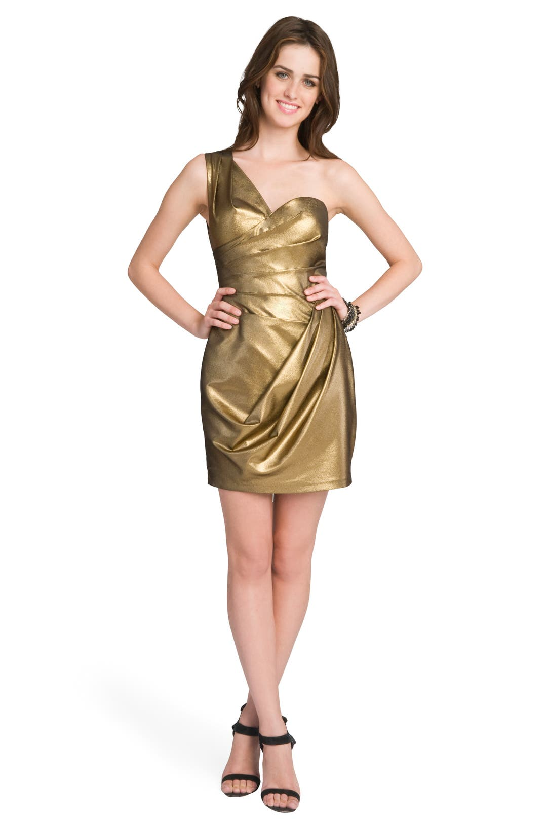 Metallic Ruched Mini by Robert Rodriguez Black Label