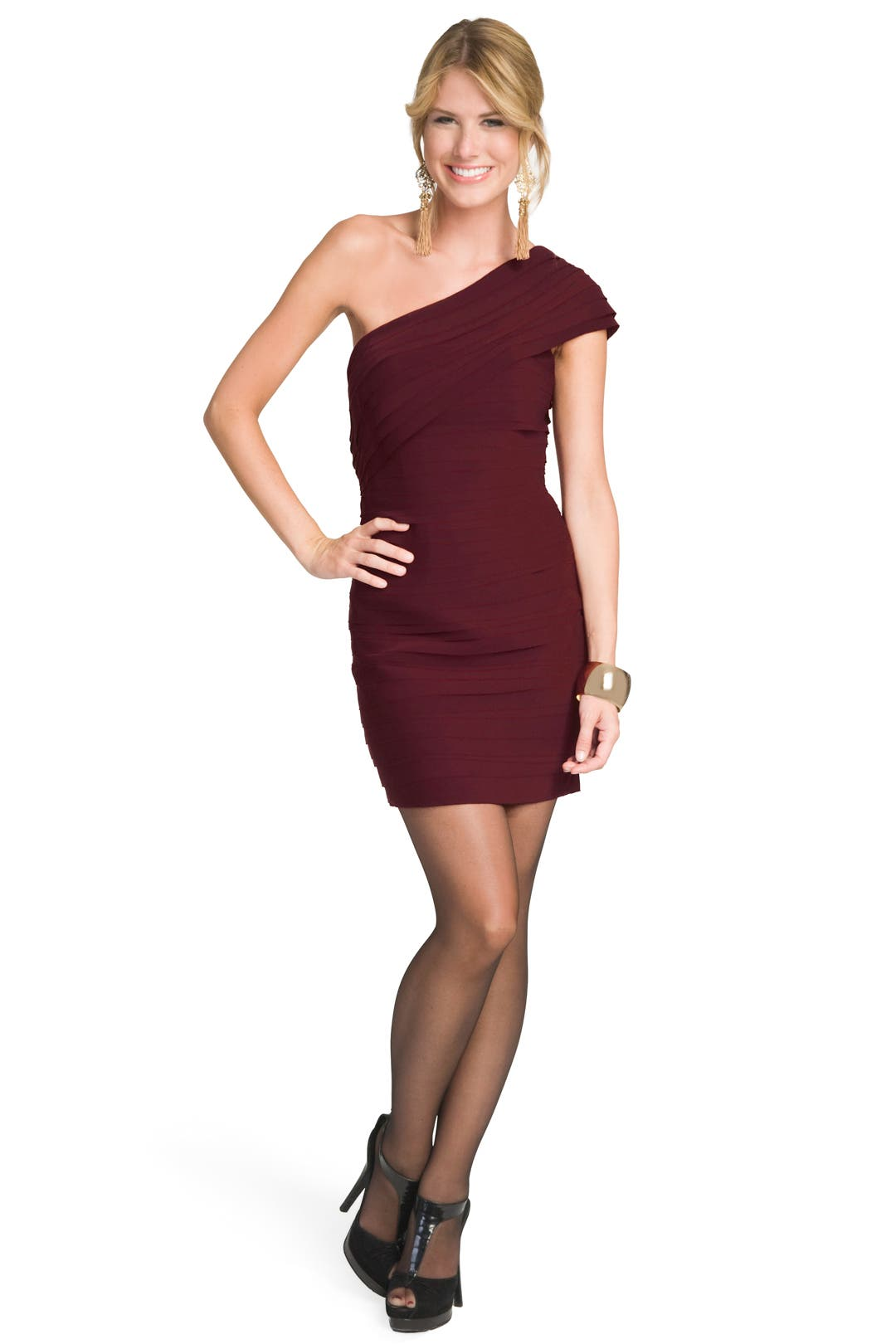 Sophisticated Merlot Dress by Robert Rodriguez Black Label