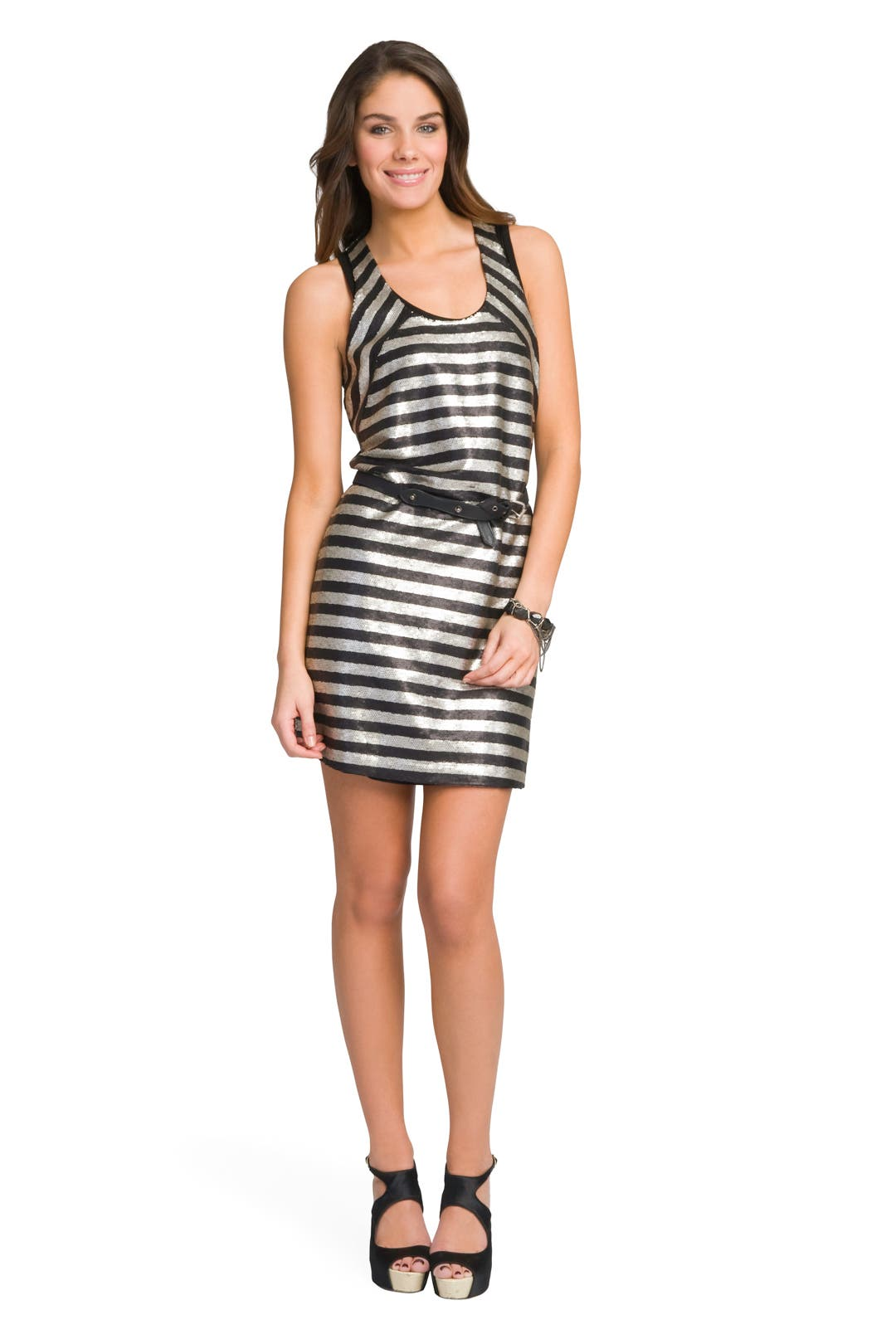 Metallica Stripe Dress by Robert Rodriguez Collection