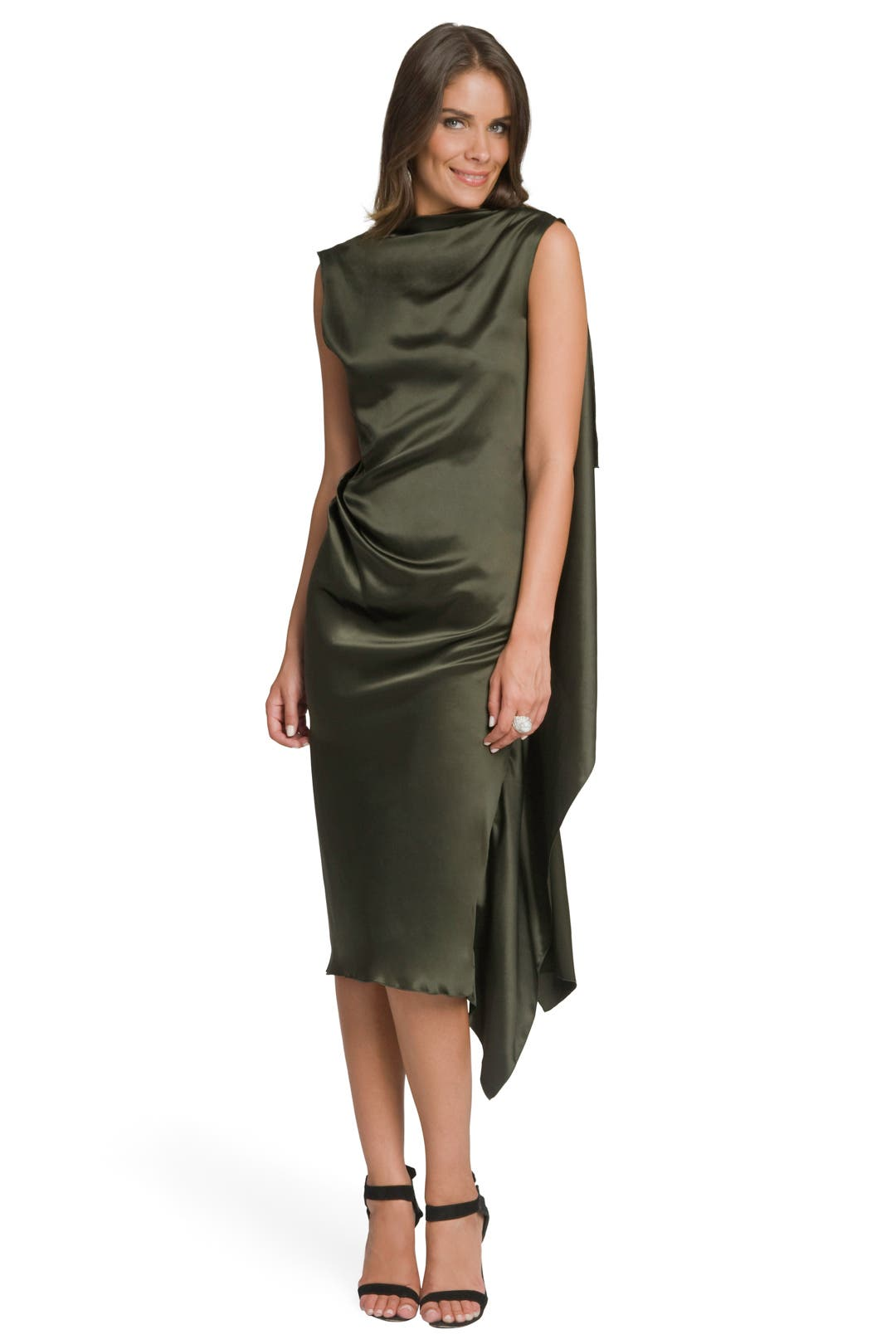 Olive Drape Back Dress by Roksanda Ilincic