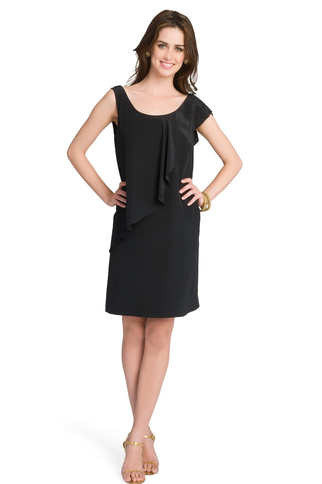 Noir Ruffle Girl Dress by See by Chloe