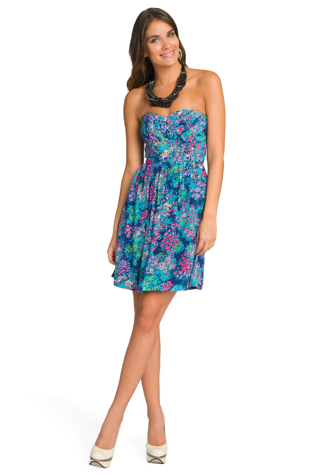 Bright Bold Floral Dress by Shoshanna