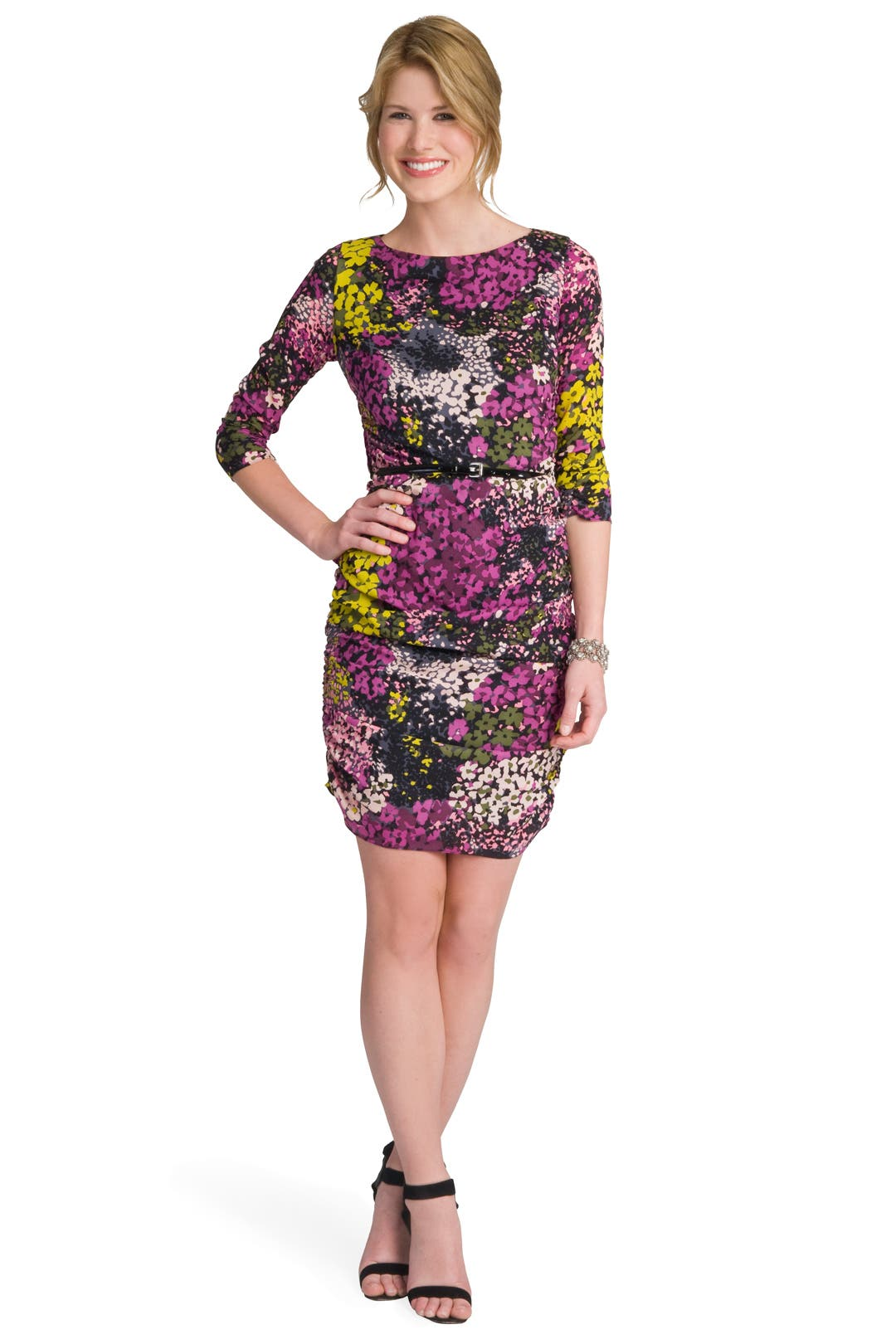 Floral Print Ruched Dress by Shoshanna