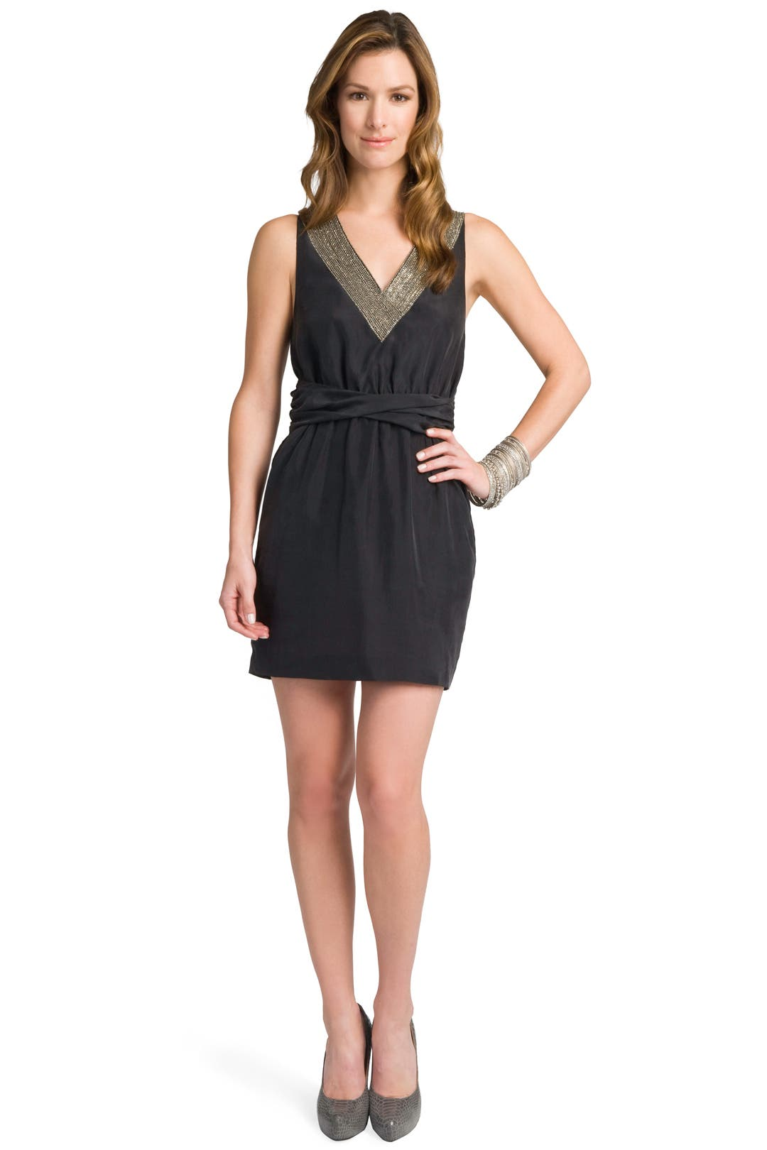 Beaded Detail Chemise by theory