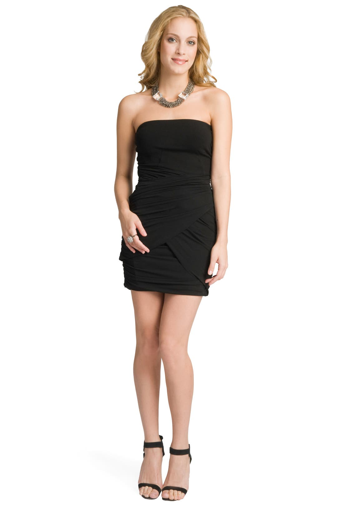 Jersey Draped Skirt Dress by theory