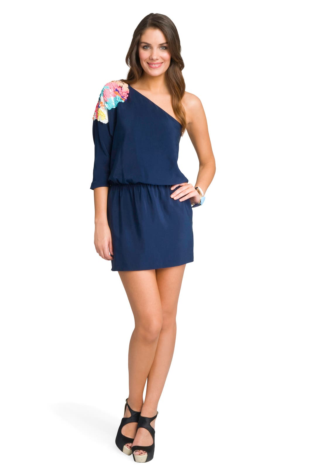 Electric Shoulder Dress by Tibi