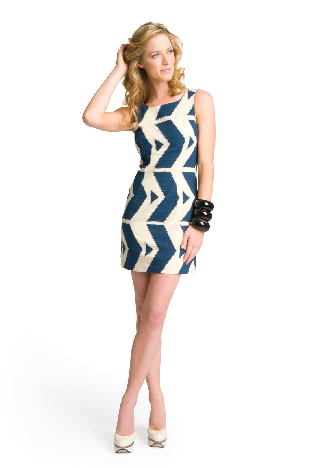 Zig Zag Appliqué Dress by Tracy Reese