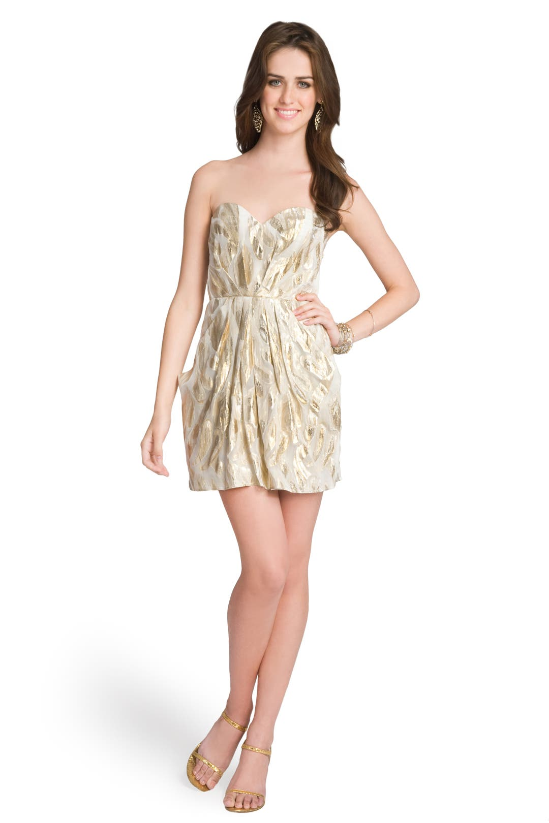 Metallic Mesmerizer Dress by Twelfth Street by Cynthia Vincent