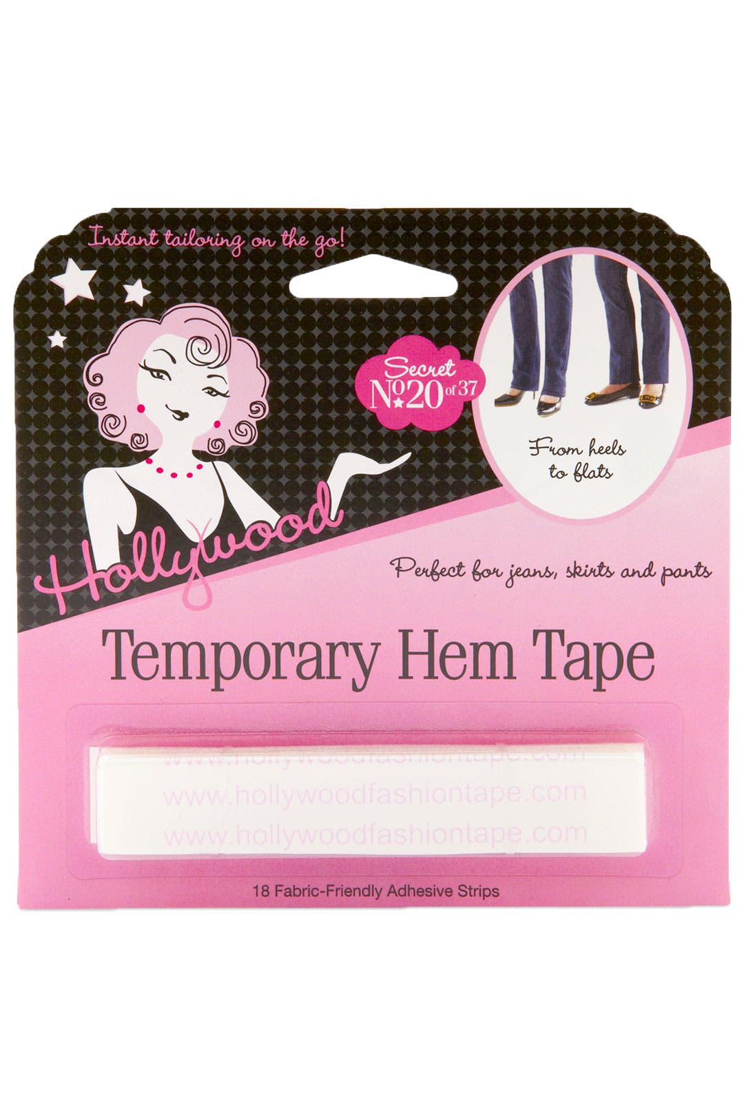 Temporary Hem Tape Strips by Hollywood Fashion Tape