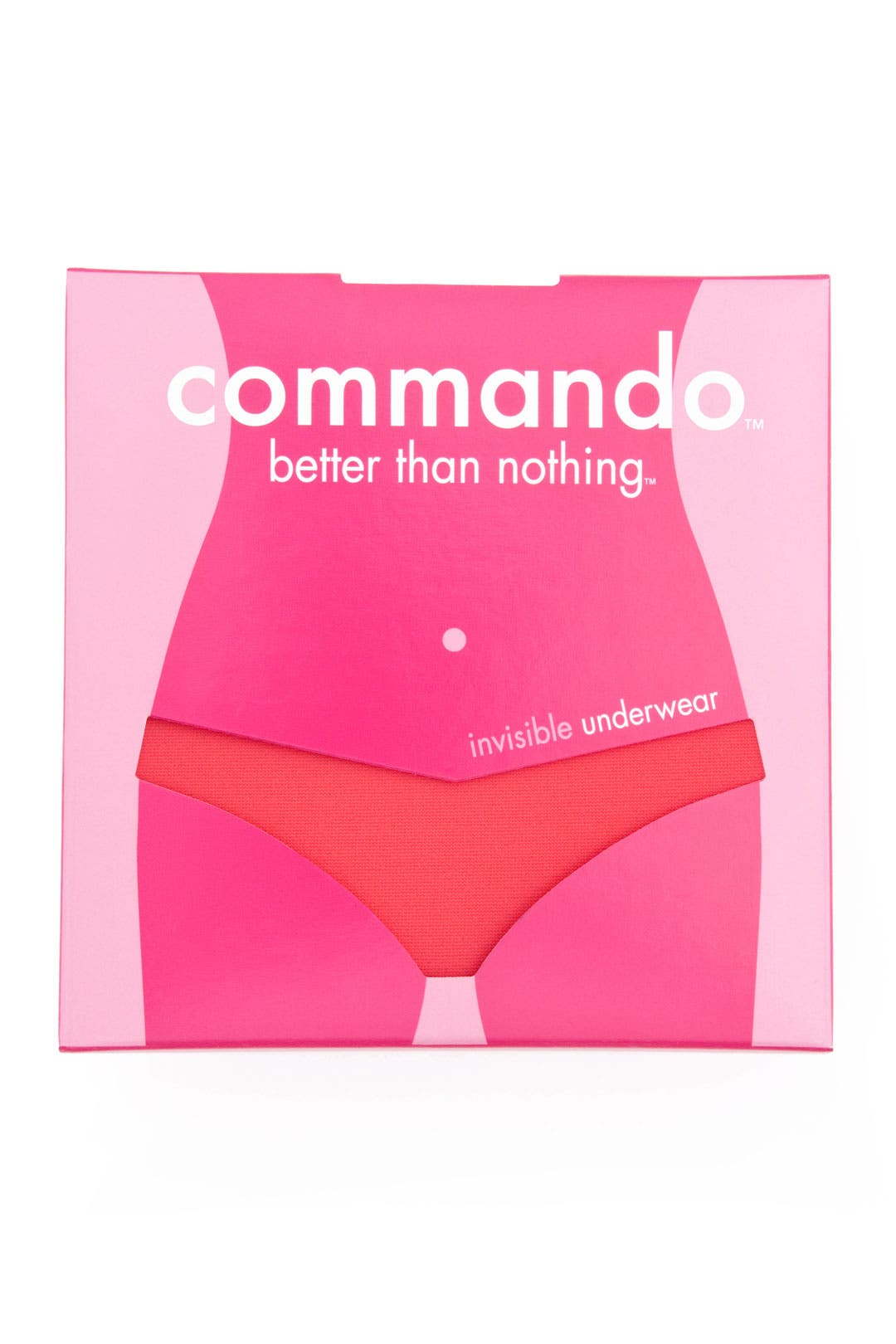 Seamless Pink Low-Rise Thong by Commando