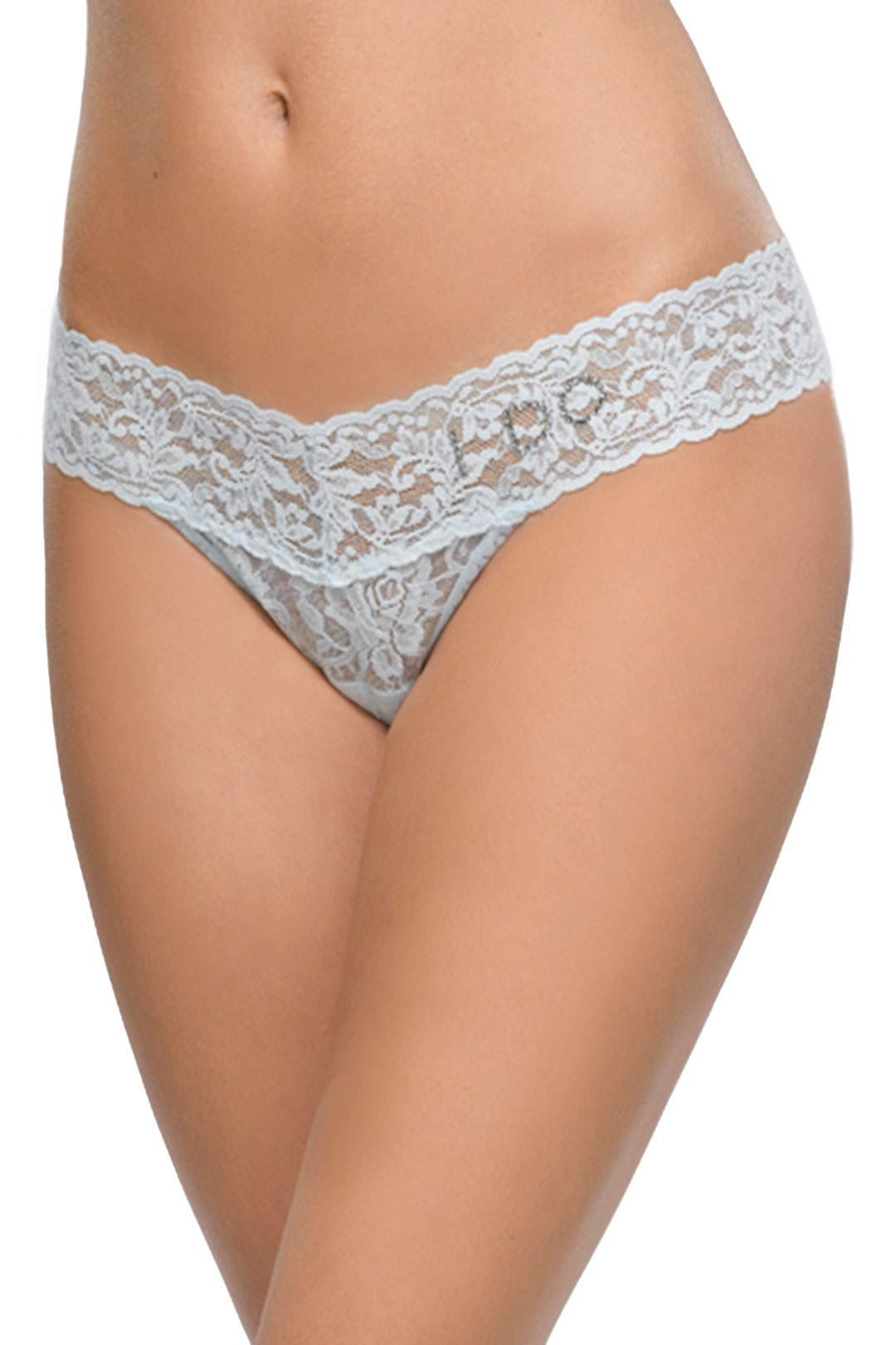 I Do Powder Blue Low Rise Thong by Hanky Panky