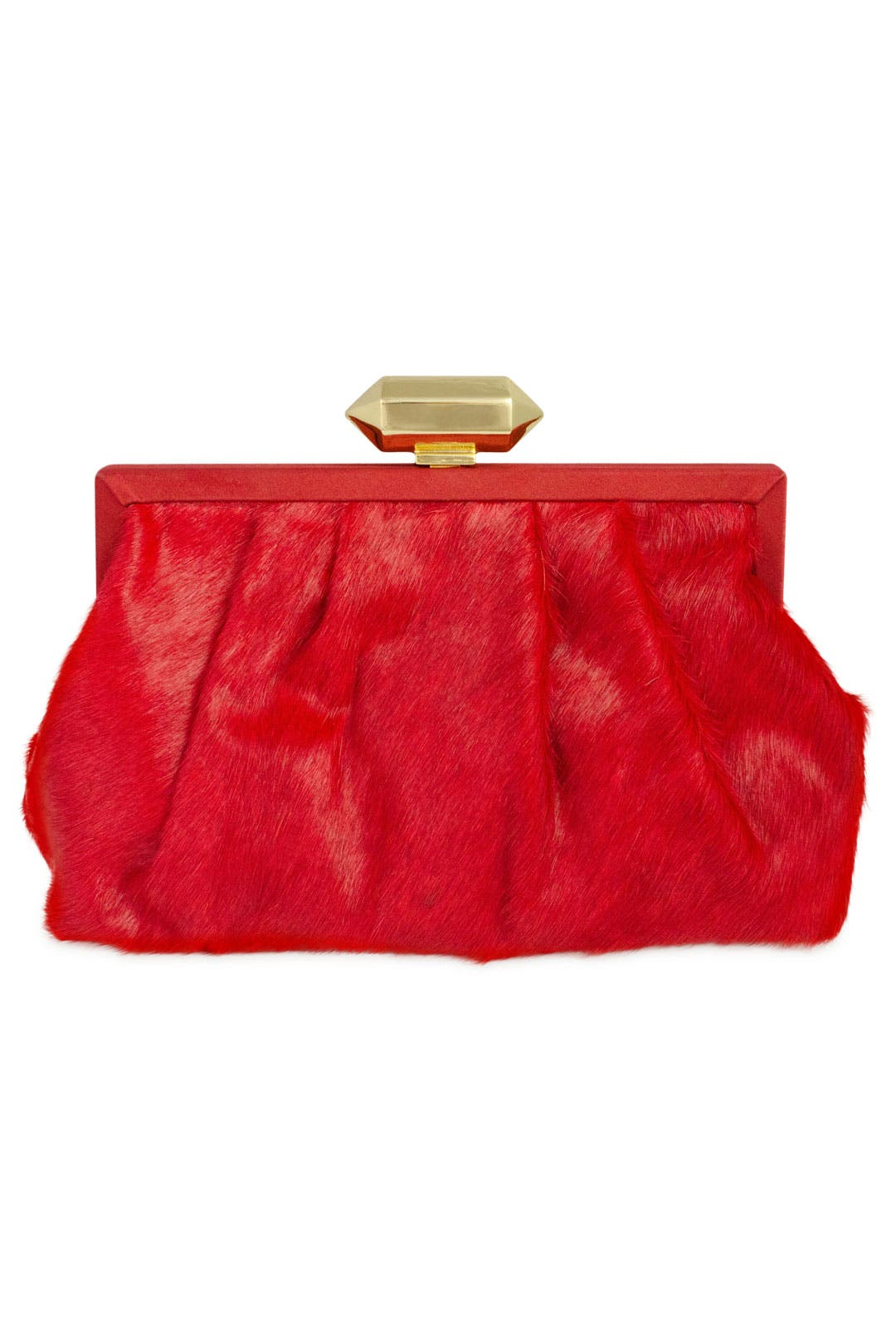Crimson Miriam Pony Clutch by Badgley Mischka Handbags