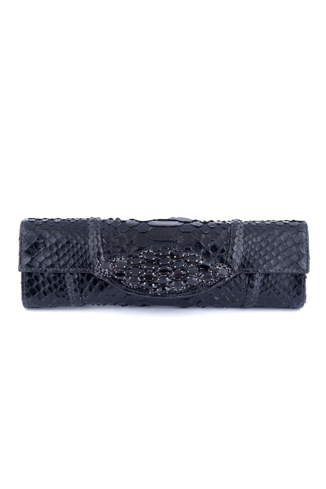 Black Coffee Clutch by Carlos Falchi