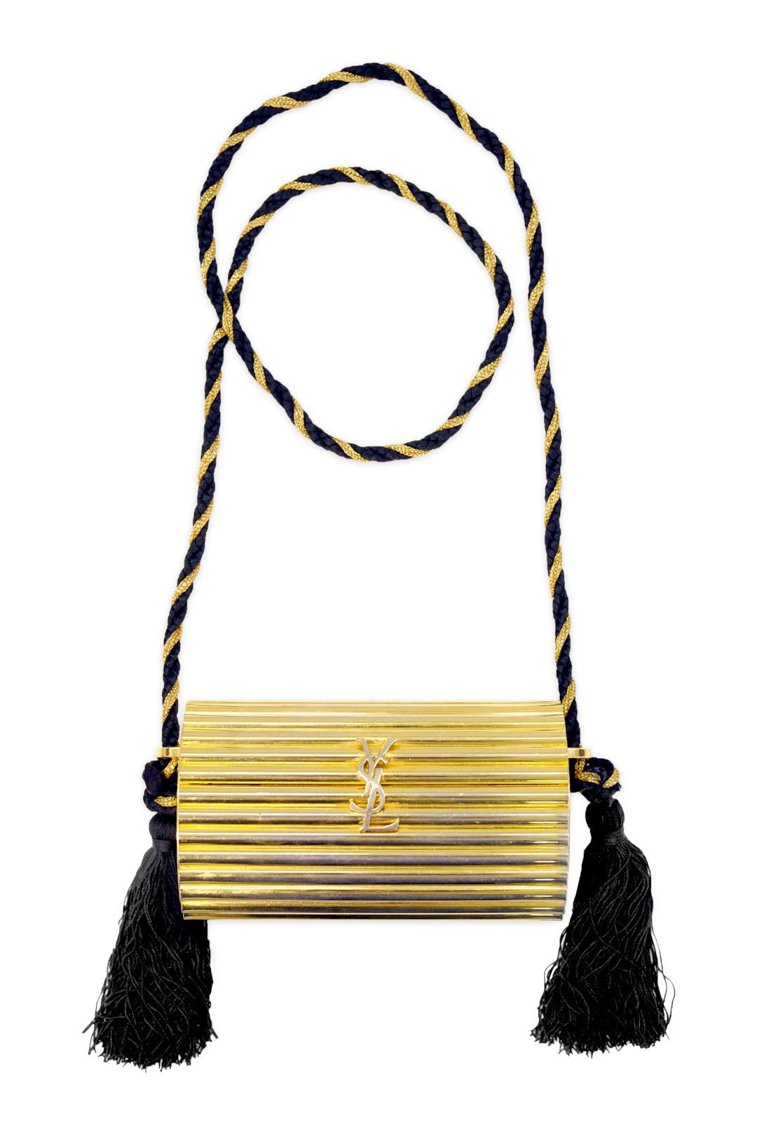 Vintage YSL Gold Tassel Clutch by Decades Vintage