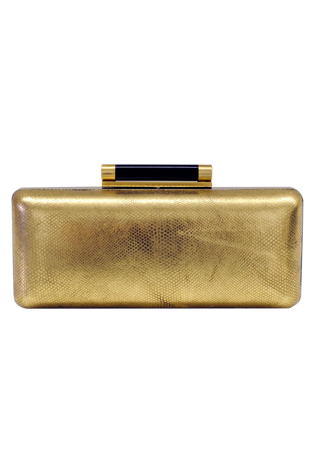 Gold Tonda Metallic Clutch by Diane von Furstenberg Handbags