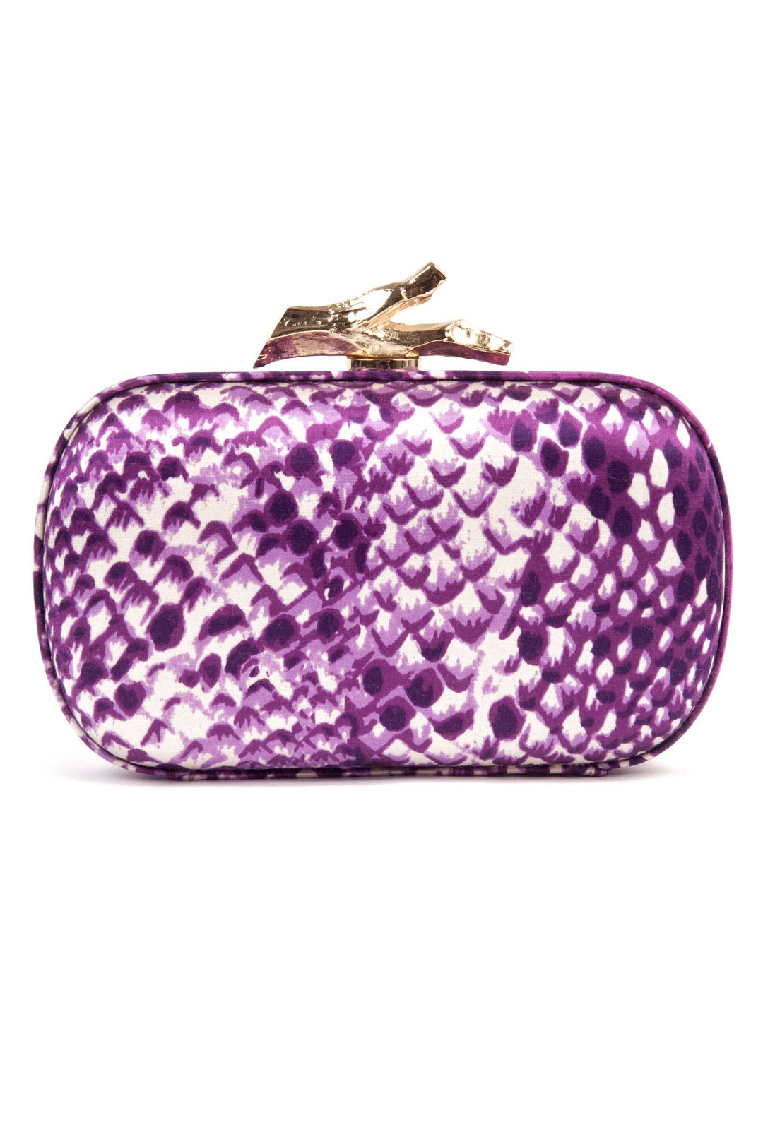 Thai Purple Snake Clutch by Diane von Furstenberg Handbags