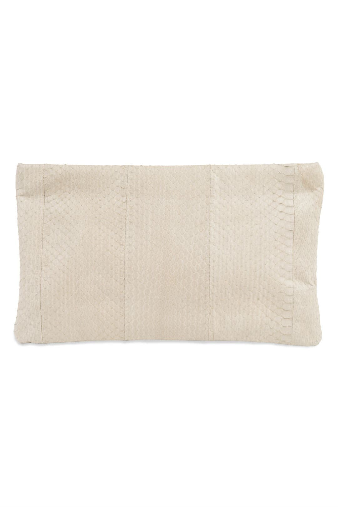 Nude Zip Me Up Clutch by Felix Rey