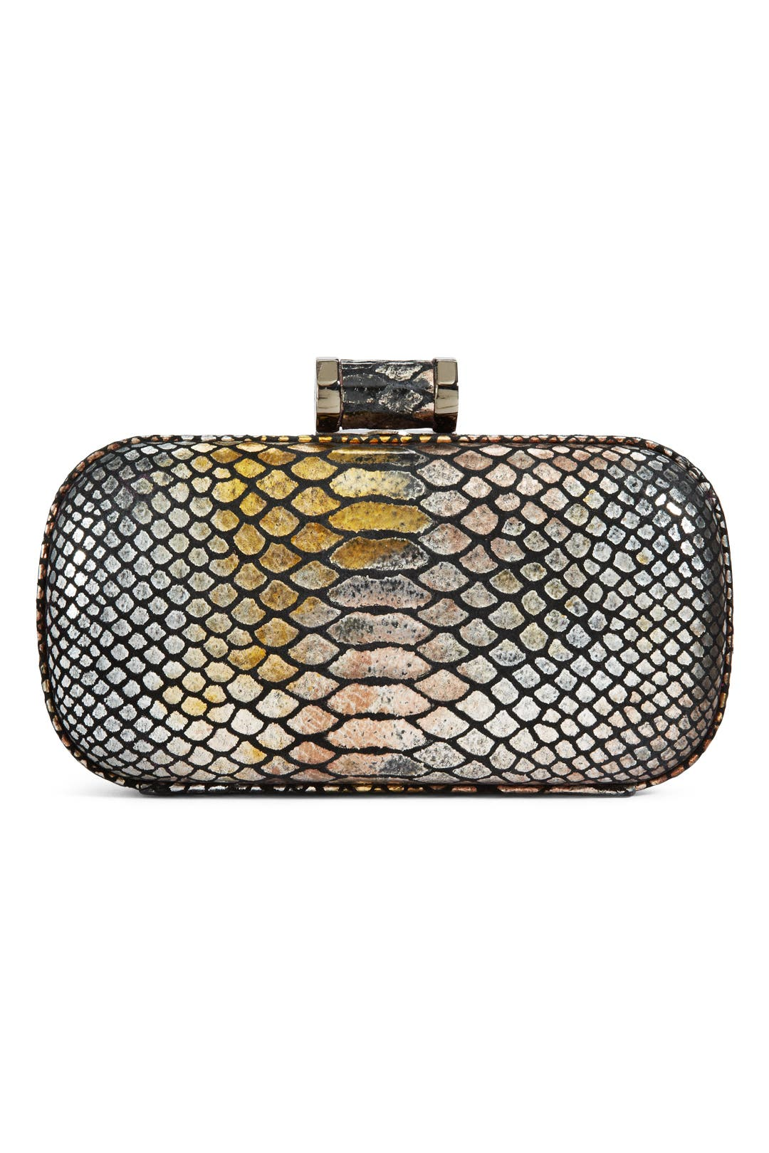 Bronze Snake Clutch by Halston Heritage Handbags