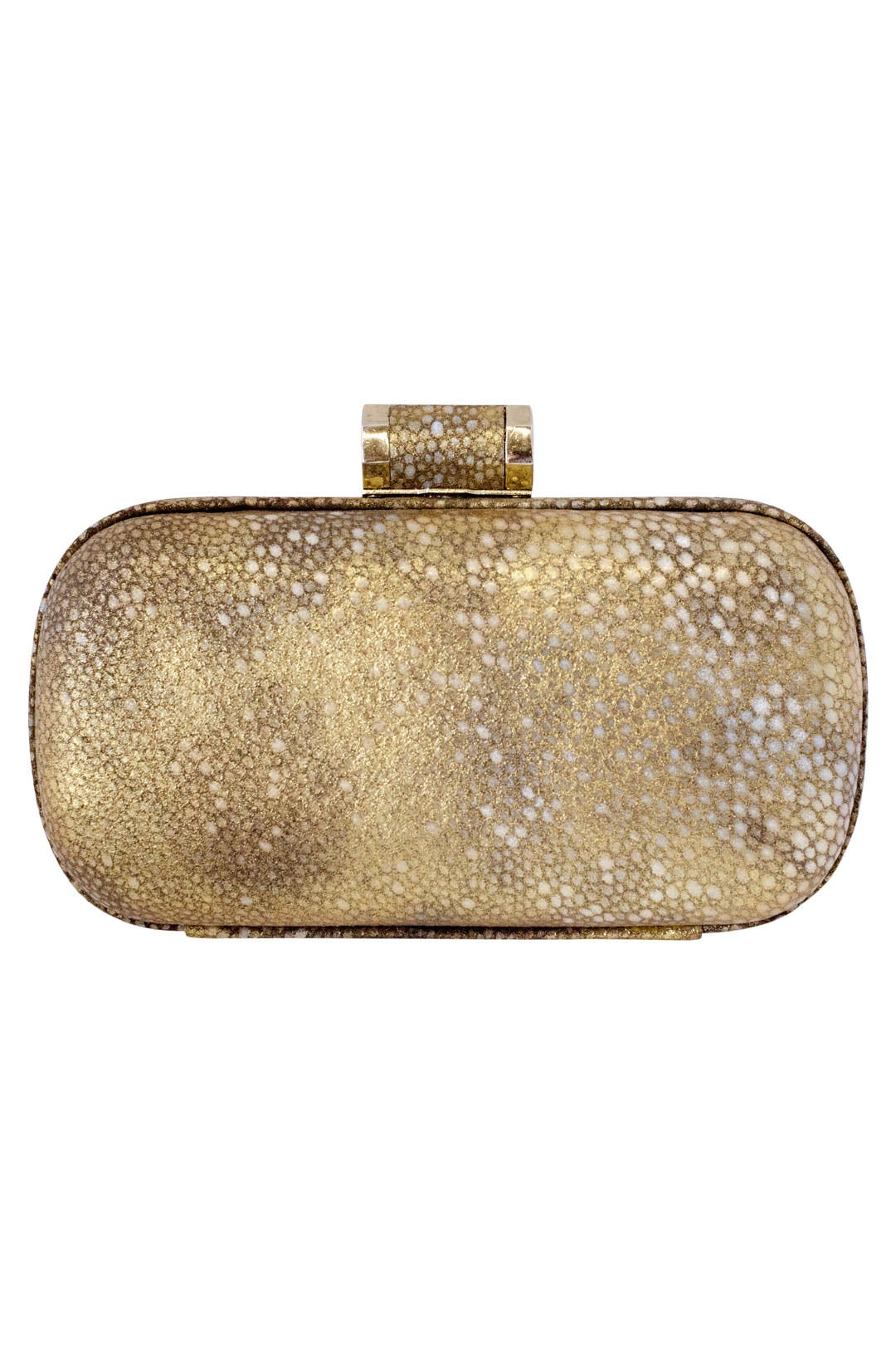 Gold Tie-Dye Pebble Clutch by Halston Heritage Handbags