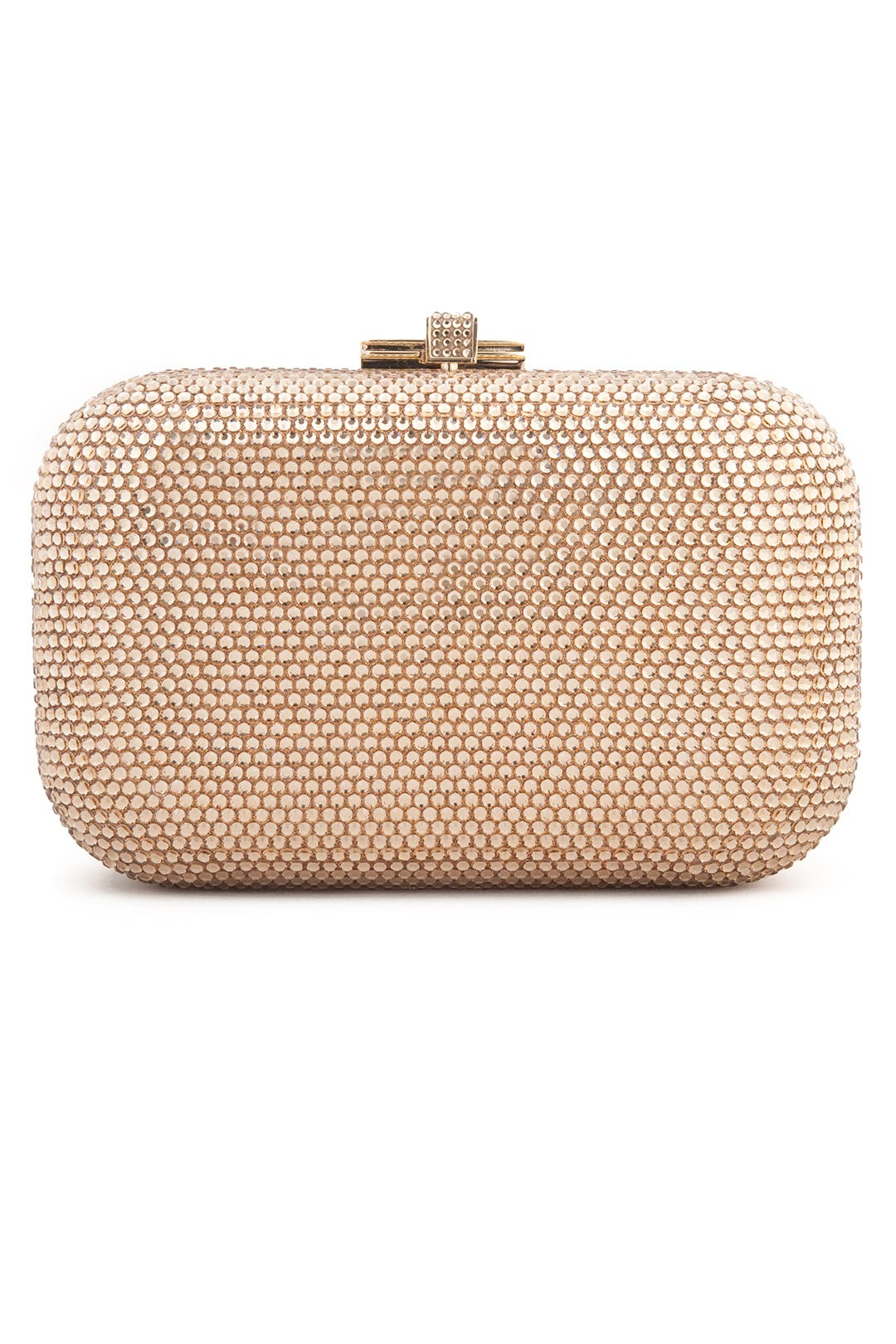 Gold Fortune Cookie Clutch by Judith Leiber