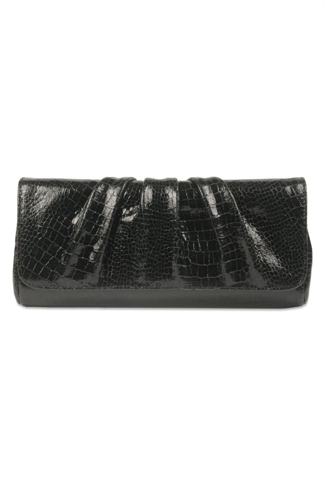 Caroline Croc Clutch by Lauren Merkin